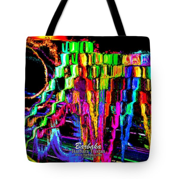 Rings Of Fire Tote Bag by Barbara Tristan
