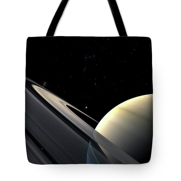 Rings Of Saturn Tote Bag by Fahad Sulehria