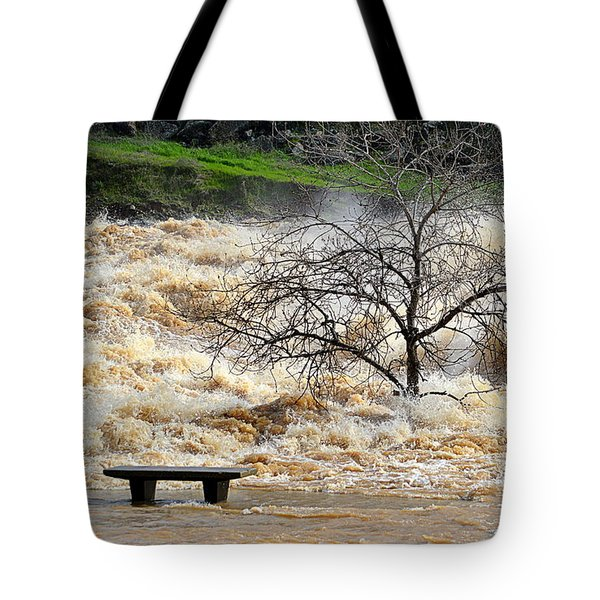 Tote Bag featuring the photograph Ringside Seat by AJ Schibig