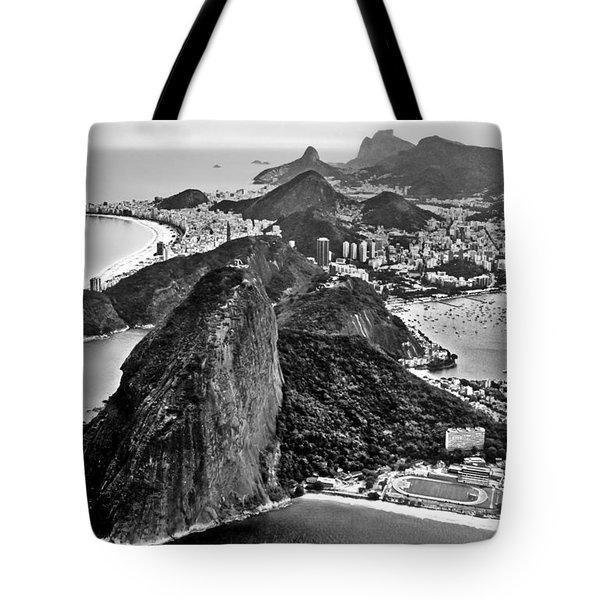 Rio De Janeiro - Sugar Loaf, Corcovado And Baia De Guanabara Tote Bag