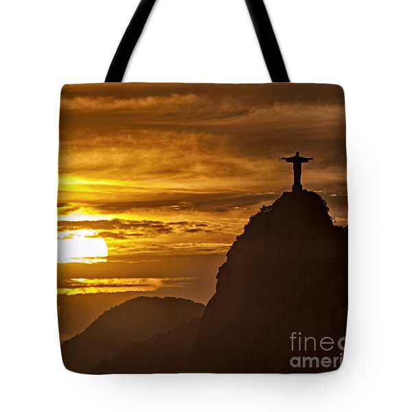 Tote Bag featuring the photograph Rio De Janeiro Christ Statue by Juergen Held