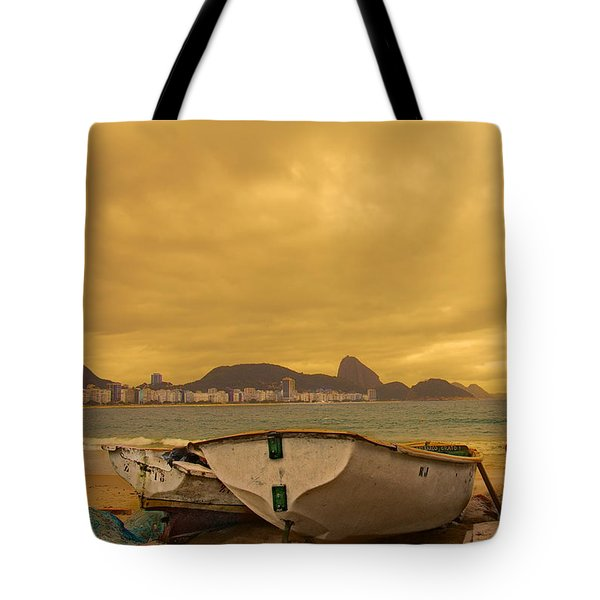 Tote Bag featuring the photograph Rio Fishing Boats by Kim Wilson