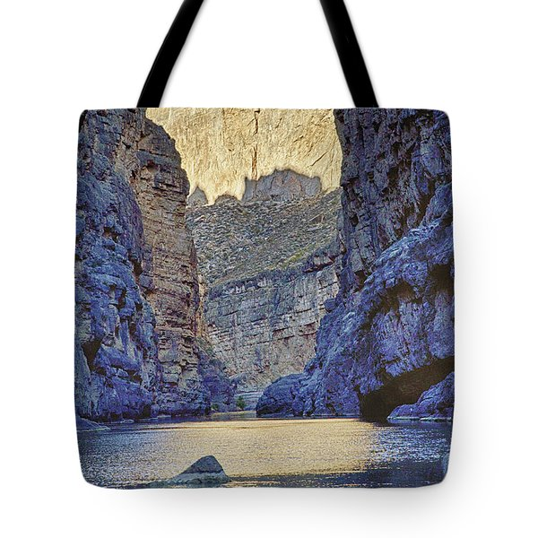 Rio Grand, Santa Elena Canyon Texas 2 Tote Bag by Kathy Adams Clark