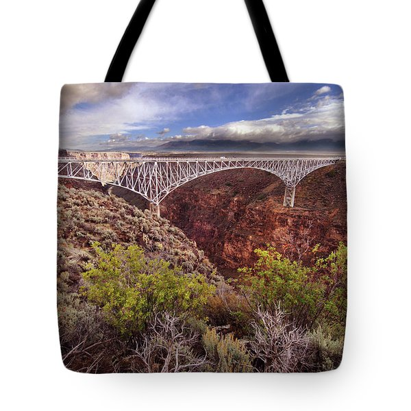 Rio Grande Gorge Bridge Tote Bag by Jill Battaglia