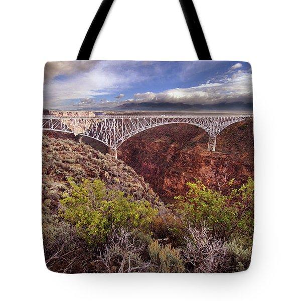 Tote Bag featuring the photograph Rio Grande Gorge Bridge by Jill Battaglia