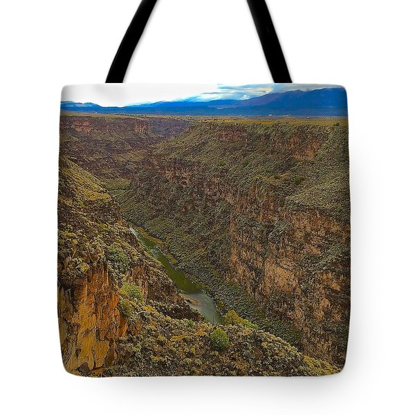 Rio Grande Gorge Just After Dawn Tote Bag by Brenda Pressnall