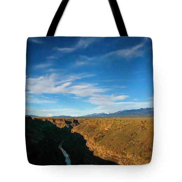 Rio Grande Gorge Nm Tote Bag