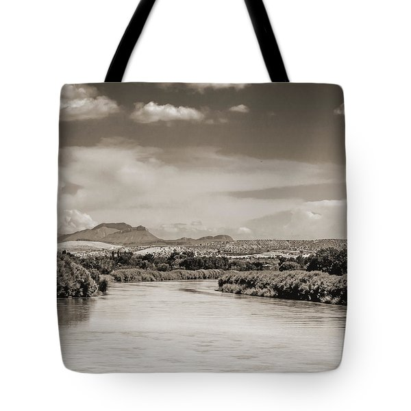 Rio Grande In Sepia Tote Bag