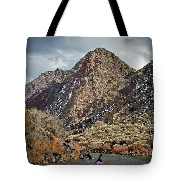 Tote Bag featuring the photograph Rio Grande Racecourse In Winter by Atom Crawford