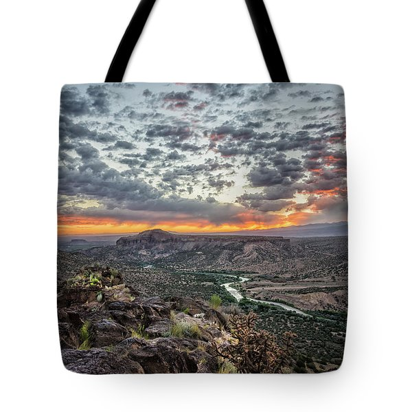 Rio Grande River Sunrise 2 - White Rock New Mexico Tote Bag by Brian Harig
