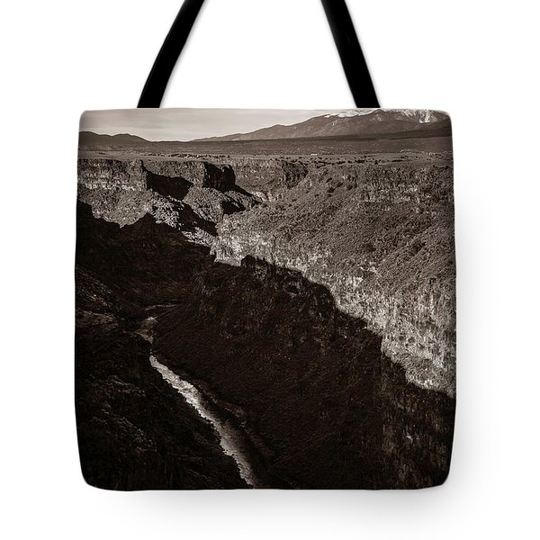 Tote Bag featuring the photograph Rio Grande River Taos by Marilyn Hunt