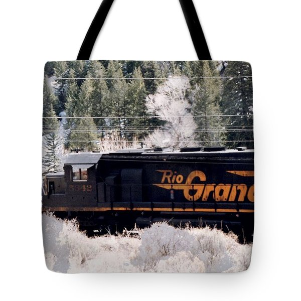 Rio Grande Train In Colorado Tote Bag