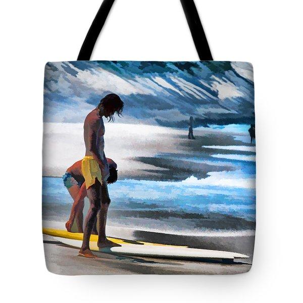 Rio Surfers Tote Bag by Dennis Cox