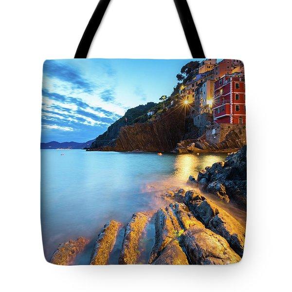 Riomaggiore Tote Bag by Evgeni Dinev