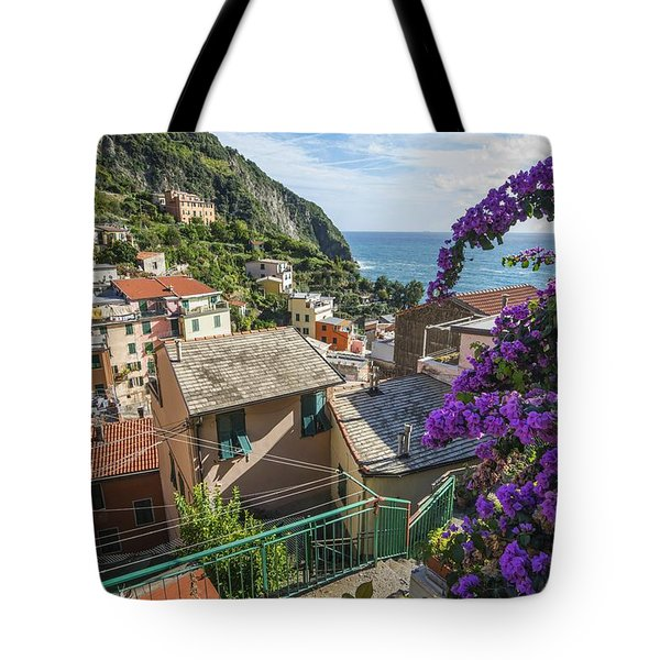 Riomaggiore Town Tote Bag by Brad Scott