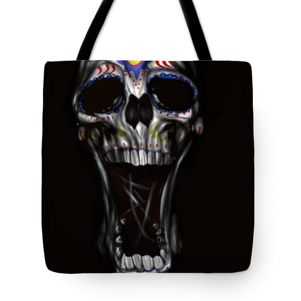 Tote Bag featuring the painting R.i.p by Pete Tapang