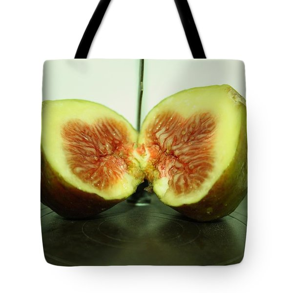 Ripe Fig On Iron Platte. Tote Bag
