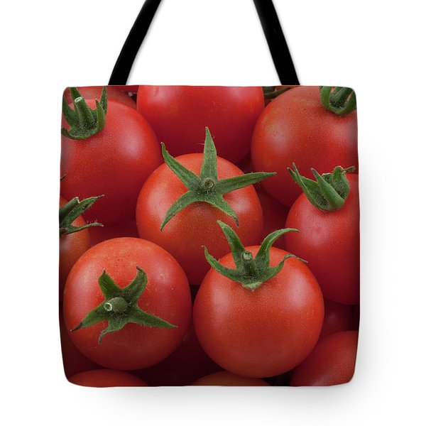 Tote Bag featuring the photograph Ripe Garden Cherry Tomatoes by James BO Insogna