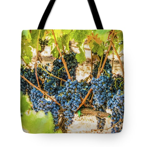 Ripe Grapes On Vine Tote Bag