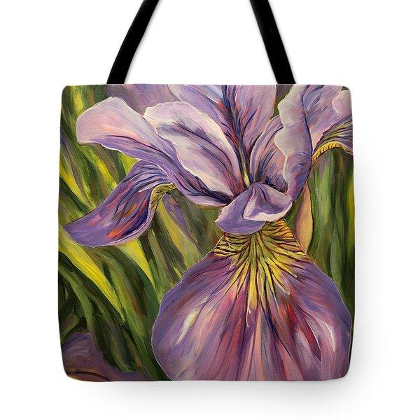 Ripe Iris Tote Bag by Trina Teele