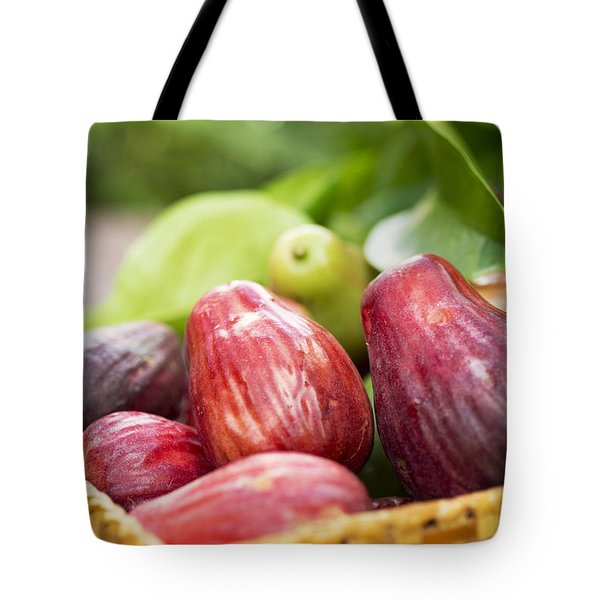 Tote Bag featuring the photograph Ripe Mountain Apples by Charmian Vistaunet