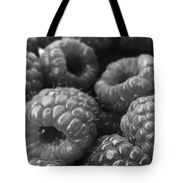 Tote Bag featuring the photograph Ripe Organic Raspberries by Lora Lee Chapman