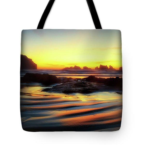 Ripple Effect Beach Image Art Tote Bag