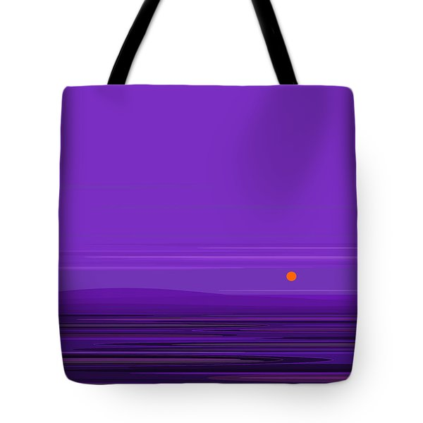 Tote Bag featuring the digital art Ripple -twilight Purple by Val Arie