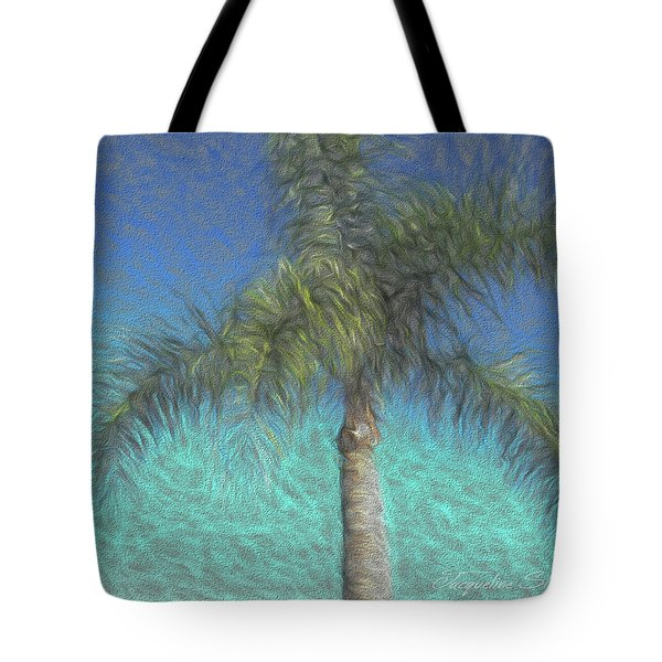Rippled Palm Tote Bag
