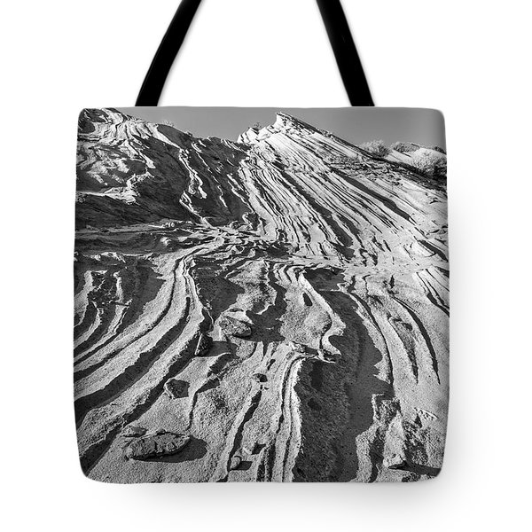 Rippled Sandstone At Waterhole Canyon Tote Bag