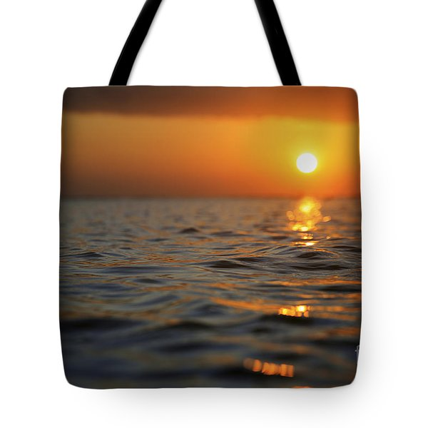 Rippled Sunset Tote Bag by Brandon Tabiolo - Printscapes