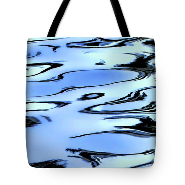 Ripples In Blue Tote Bag