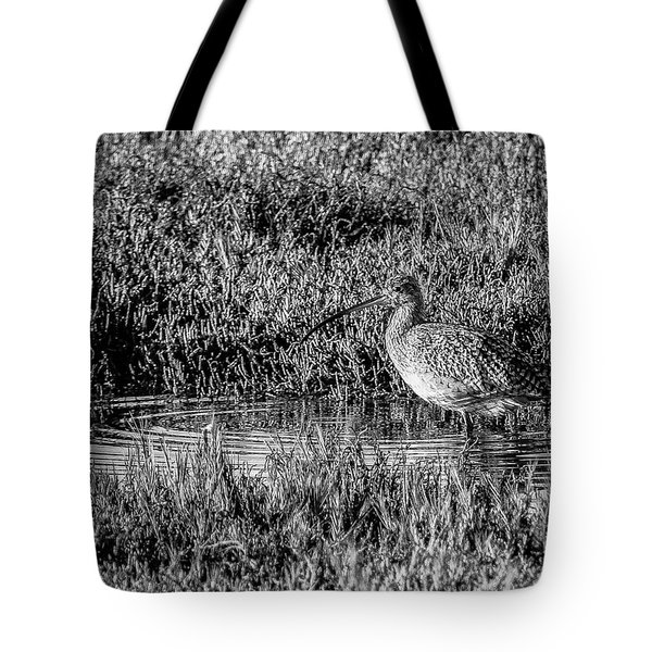 Camouflage, Black And White Tote Bag