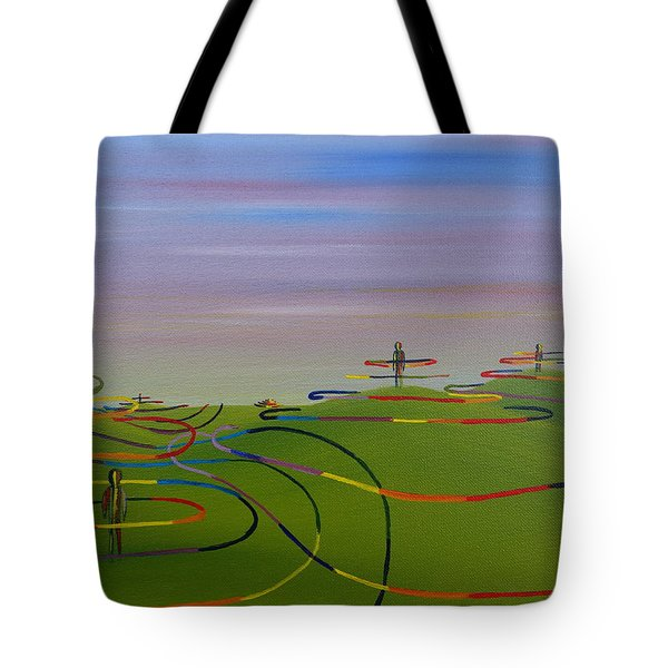 Ripples Of Life 1.2 Tote Bag by Tim Mullaney