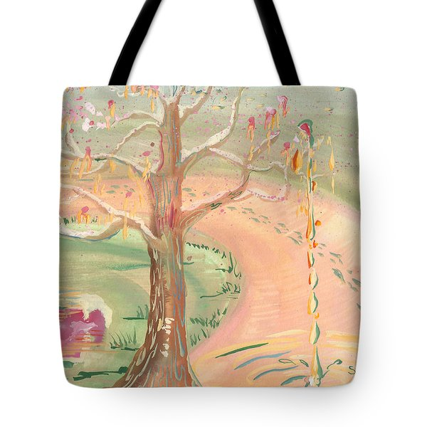 Ripples Of Spring Tote Bag