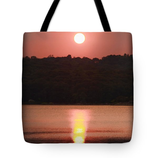 Ripples Of Sunset Tote Bag by Daphne Sampson
