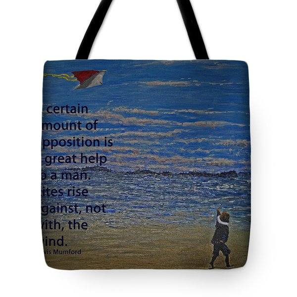 Rise Against The Wind Tote Bag by Ian  MacDonald