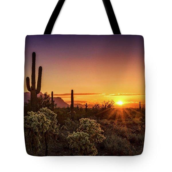 Tote Bag featuring the photograph Rise And Shine Arizona  by Saija Lehtonen