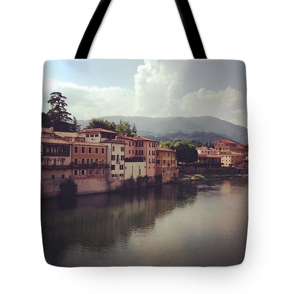 Rise And Shine #bassanodelgrappa Tote Bag
