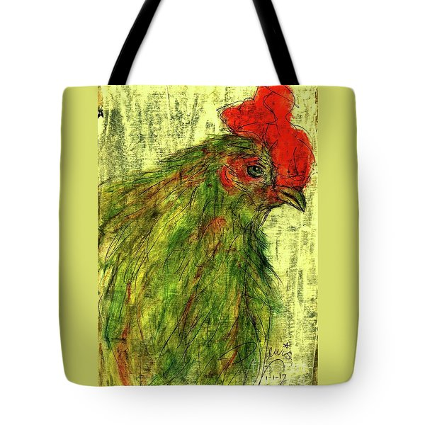 Tote Bag featuring the drawing Rise And Shine  by P J Lewis