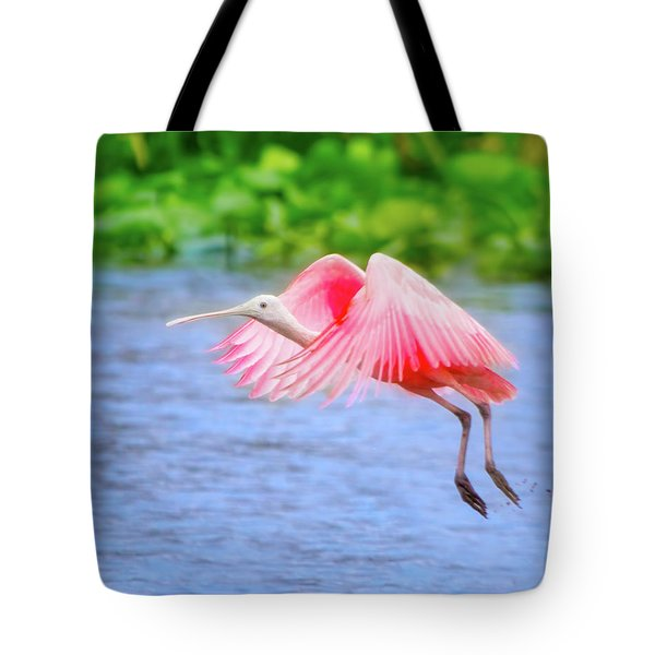 Rise Of The Spoonbill Tote Bag by Mark Andrew Thomas