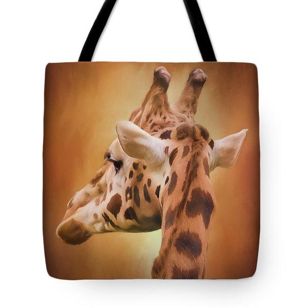 Rising Above - Giraffe Art Tote Bag