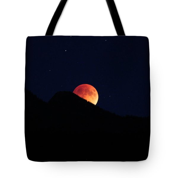 Blood Moon Rising Tote Bag by Cathie Douglas
