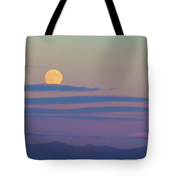Rising Harvest Moon  Tote Bag
