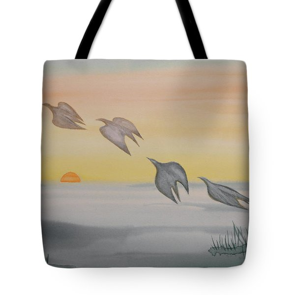 Tote Bag featuring the painting Rising by Michele Myers