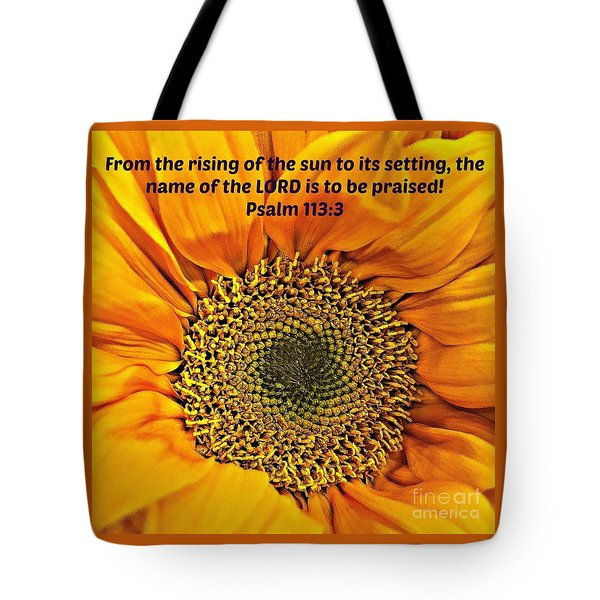 Rising Of The Sun Tote Bag