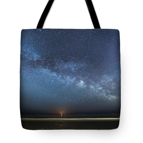 Rising Tide Rising Moon Rising Milky Way Tote Bag