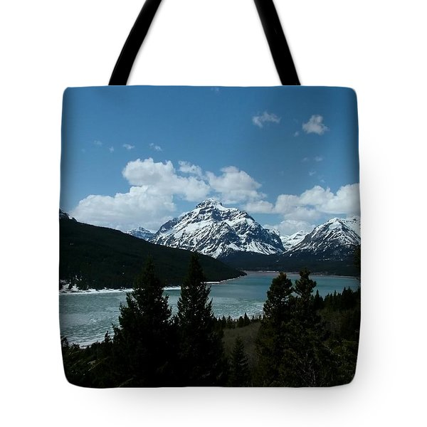 Rising Wolf And Two Medicine Lake Tote Bag