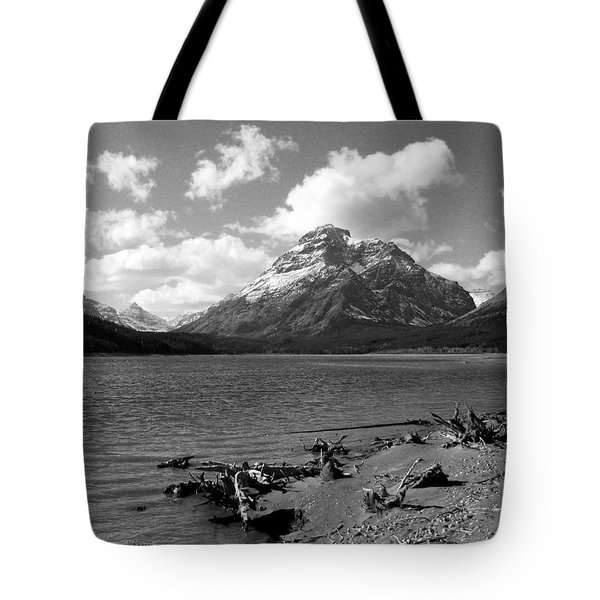 Rising Wolf, Two Med Shoreline Tote Bag