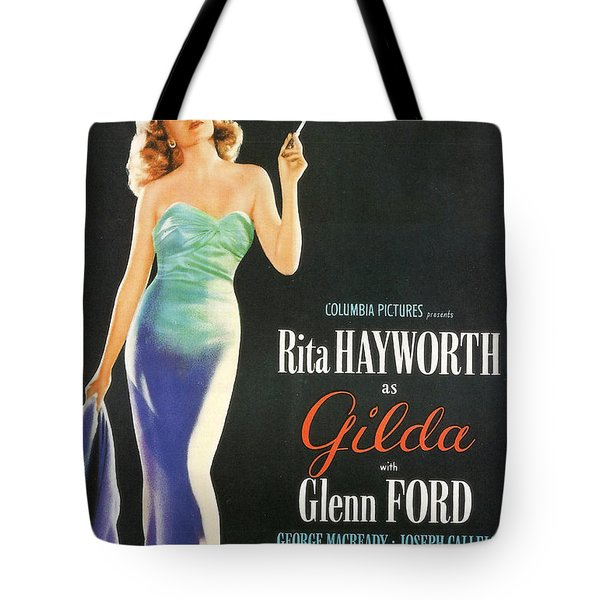 Rita Hayworth As Gilda Tote Bag by Georgia Fowler